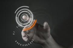 Tecnologia dello schermo attivabile al tatto Fotografie Stock