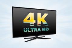 Tecnologia dello schermo della televisione digitale di UHD Fotografia Stock Libera da Diritti