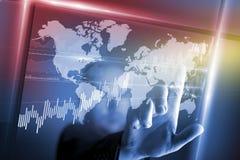 Tecnologia dello schermo virtuale Fotografia Stock