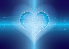 Tecnologia dentro do coração ilustração do vetor