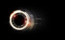 Tecnologia di circuito elettronico futuristica astratta su fondo scuro, vettore trasparente illustrazione vettoriale