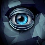 Tecnologia di computazione di intelligenza artificiale Fotografia Stock Libera da Diritti