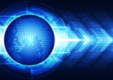 Tecnologia di comunicazione globale astratta, fondo di vettore Fotografia Stock