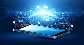 Tecnologia di comunicazione moderna Immagini Stock