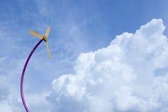 Tecnologia di energia eolica un concetto verde Immagine Stock Libera da Diritti