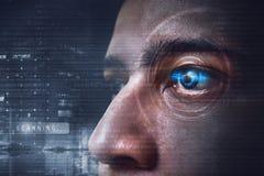 Tecnologia di esame dell'occhio immagini stock libere da diritti