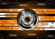 Tecnologia di futuro del bulbo oculare di vettore Immagine Stock