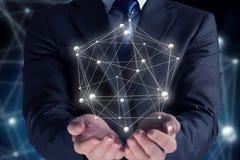 Tecnologia di futuro e della rete Immagini Stock Libere da Diritti