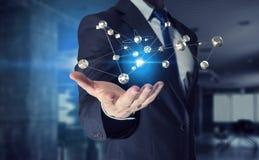 Tecnologia di futuro e della rete Fotografie Stock