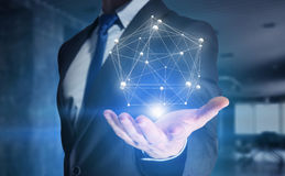 Tecnologia di futuro e della rete Media misti Immagine Stock