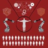 Tecnologia di futuro, stampa umana illustrazione di stock