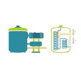 Tecnologia di Infographics di produzione della birra illustrazione vettoriale