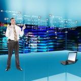 Tecnologia di ingegneria delle comunicazioni di globalizzazione Immagine Stock Libera da Diritti