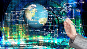 Tecnologia di Internet del computer di ingegneria Immagini Stock Libere da Diritti