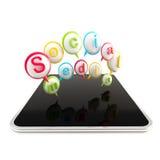 Tecnologia di mezzi d'informazione sociali Fotografie Stock
