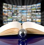 Tecnologia di produzione del Internet e della televisione Fotografie Stock Libere da Diritti