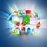 Tecnologia di produzione del Internet e della televisione Fotografia Stock