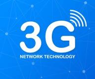 tecnologia di rete 3g Concetto mobile senza fili di servizio di telecomunicazioni Modello di atterraggio del sito Web di vendita  illustrazione vettoriale