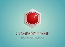 Tecnologia di riserva del poligono dell'estratto di logo Immagini Stock