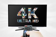 tecnologia di risoluzione della televisione 4K Immagine Stock Libera da Diritti
