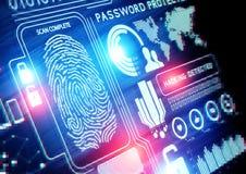 Tecnologia di sicurezza online immagini stock
