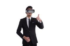 tecnologia di visione 3d, concetto di realtà virtuale Immagine Stock Libera da Diritti