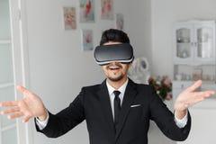 tecnologia di visione 3d, simulazione del video gioco Fotografia Stock