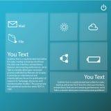 Tecnologia di web design grafica trasparente Fotografia Stock
