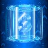 Tecnologia digital do dinheiro do vetor Foto de Stock Royalty Free