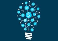 Tecnologia digital nova dentro do negócio de serviços financeiros ilustração royalty free