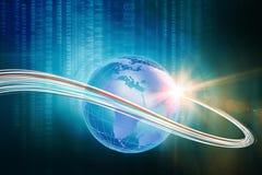 Tecnologia digitale crescente con la serie di concetto del mondo Fotografia Stock