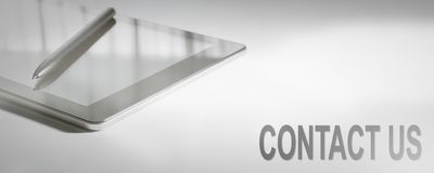 Tecnologia digitale di concetto di affari degli Stati Uniti del CONTATTO Immagine Stock