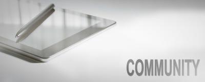 Tecnologia digitale di concetto di affari della COMUNITÀ fotografia stock