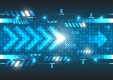 Tecnologia digitale di velocità di vettore futuro astratto Immagini Stock