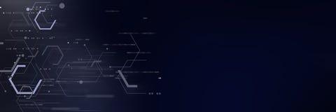 Tecnologia digitale futuristica astratta Immagini Stock