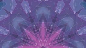 Tecnologia dinamica del poligon della stella di forma della rete della nuvola di animazione qualità brillante ROSA BLU simmetrica royalty illustrazione gratis