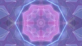 Tecnologia dinamica del poligon della stella di forma della rete della nuvola di animazione qualità brillante ROSA BLU simmetrica illustrazione di stock