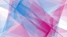 Tecnologia dinamica di ROSSO BLU del poligono della stella di forma della rete della nuvola di animazione qualità brillante simme royalty illustrazione gratis