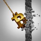 Tecnologia disgregativa di Bitcoin Fotografie Stock
