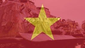 Tecnologia distrutta americano di NTrophy dopo la guerra del vietnam Musei militari nazionali della guerra del vietnam fotografia stock libera da diritti