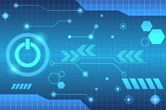 Tecnologia do botão do círculo para o futuro Imagens de Stock