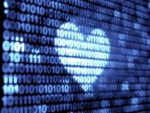 Tecnologia do código binário Foto de Stock Royalty Free