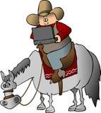 Tecnologia do cowboy ilustração do vetor