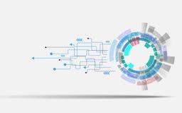 Tecnologia do fundo do vetor e conceito da inovação do negócio Imagens de Stock