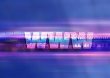 Tecnologia do gráfico de WWW Foto de Stock