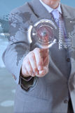 Tecnologia do homem de negócios Imagens de Stock