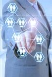 Tecnologia do homem de negócios Imagens de Stock Royalty Free