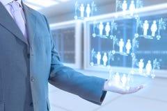 Tecnologia do homem de negócios Imagem de Stock