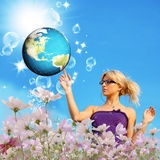 Tecnologia do Internet globalization Fotografia de Stock