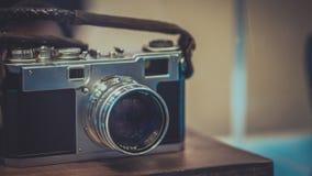 Tecnologia do manual da câmera do filme do vintage fotografia de stock